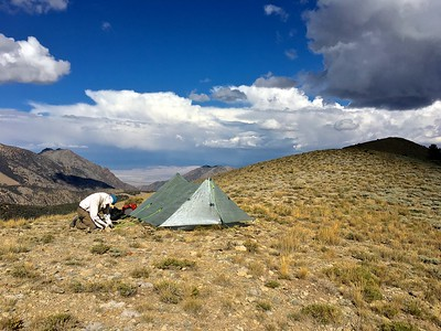 Campsite on a ridge at 10,600 ft