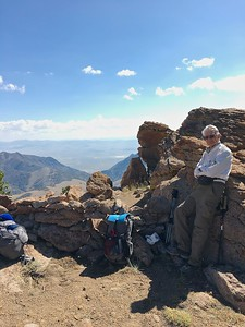 Windbreak on Toiyabe Crest Trail