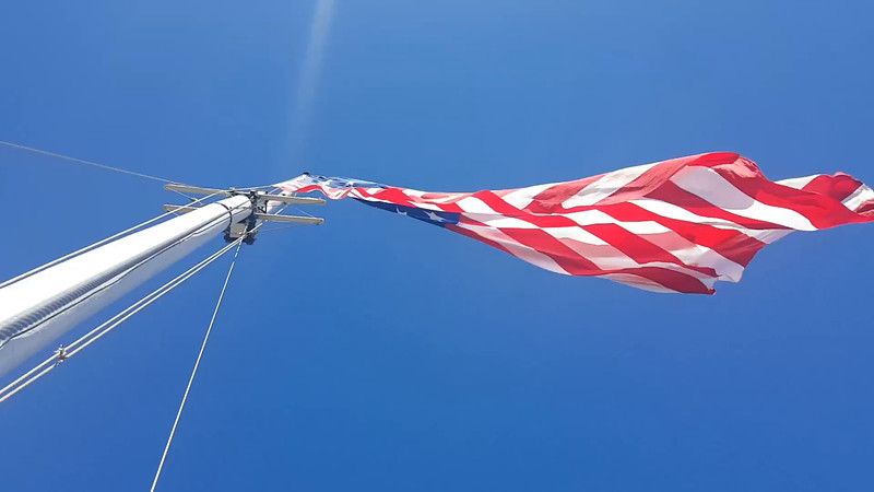 The large flag the troop raised over Ft. McHenry, Maryland