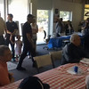 Presentation ceremony for John Hermann after lunch