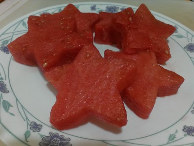 Star shaped watermelon slicers (used a cookie cutter) - so Pinterest ;)