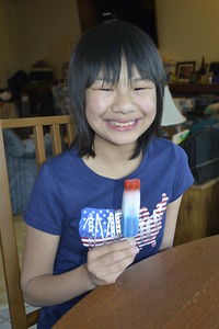 Kaara opted for the Firecracker Popsicles