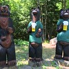 ENROUTE TO THE BEACH WE STOPPED TO SEE THESE WOOD CARVINGS
