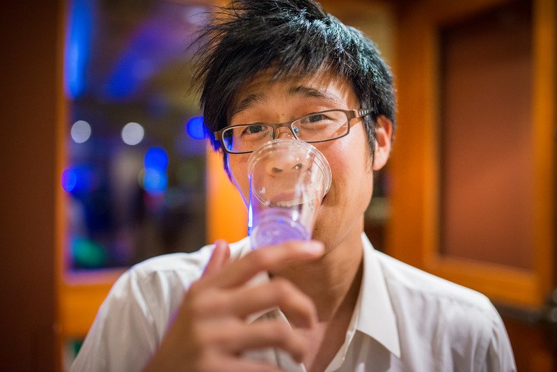 The best photo Kevin will ever have while drinking water.