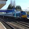 DRS Class 68 no. 68009 'Titan' leads a Chiltern Railways Birmingham express through Princes Risborough.