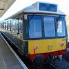 Chiltern Railways Class 121 'Bubble Car' no. 121034 (W55034) at Princes Risborough on a service to Aylesbury.