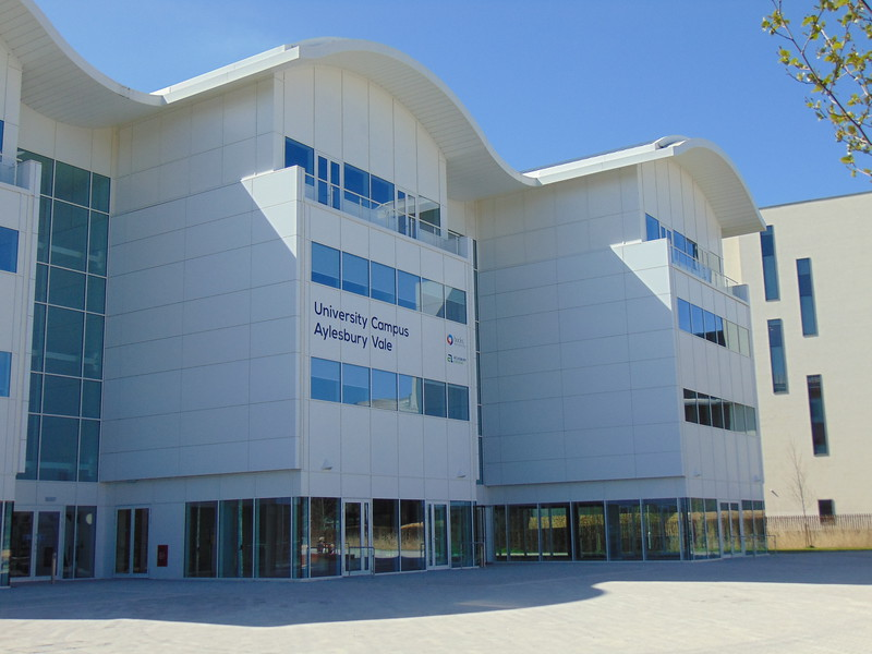 The new University Campus Aylesbury Vale, part of the Waterside development and run by Bucks New University.