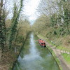 The Grand Union Canal looking north at Tring Station.