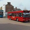 Redline Dennis Dart V262BNV and Arriva DAF ALX400 Y474UGC 6274 in Tring on the 164 to Leighton Buzzard and the 500 to Watford respectively.