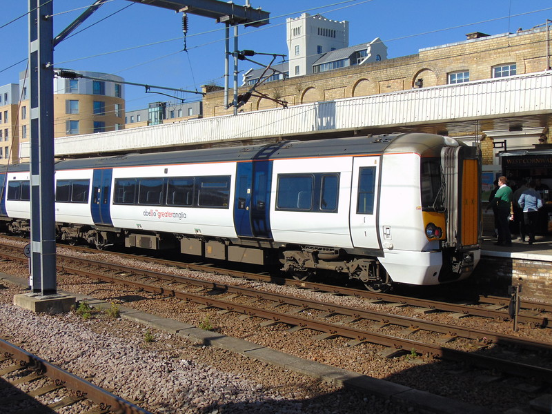 Abellio Greater Anglia Class 379 Electrostar no. 379003 at Cambridge.