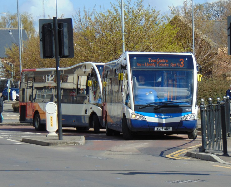 Stagecoach Norfolk Optare Solo SR YJ15ANV 48025 at Kings Lynn rail station on the 3.