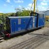 Bo-bo diesel loco Norfolk Harvester at Wells on Sea station on the Wells and Walsingham Railway.