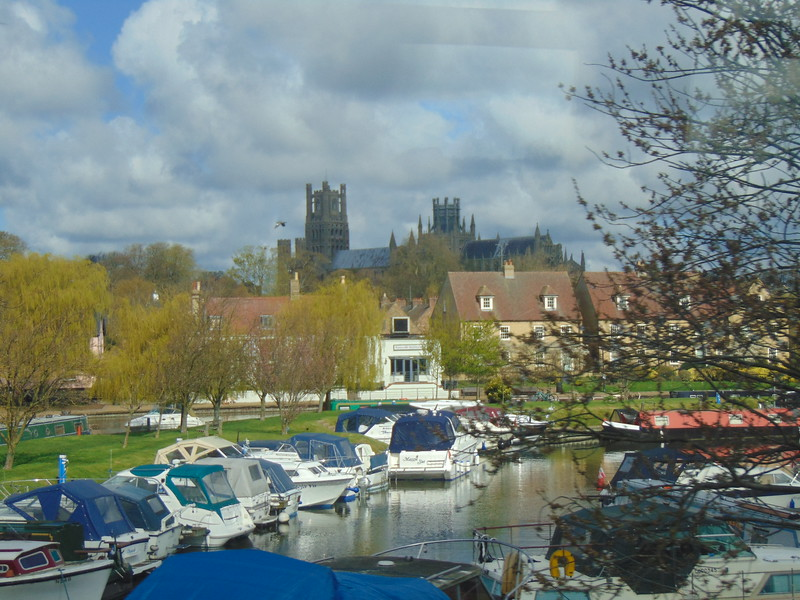 A brief glimpse of Ely and its cathedral from the train.