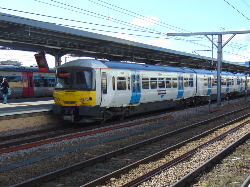 Great Northern Class 365 Networker no. 365535 at Cambridge on a Kings Cross service.