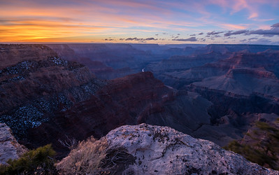 Sunset at the Grand Canyon.