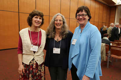Dean for Arts and Humanities Lea Jacobs (middle) and Director of the School of Music Susan Cook (right)