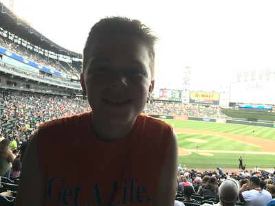 Aug. 5-6: Grandpa Elvers Visits (White Sox Game, Big Ten 10K Race)