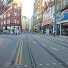 Midland Metro tram tracks at Birmingham New Street (Grand Central stop).