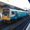 Arriva Trains Wales Class 142 Pacer no. 142081 at Cheltenham Spa having arrived from Cardiff.