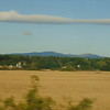 The Malvern Hills seen from the Cross Country Main Line near Ashchurch.
