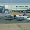Flybe Bombardier Dash-8 Q400 G-JECZ at Birmingham Airport on a flight to Glasgow.