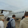 Boarding DOT LT ATR-72 OY-RUB at Birmingham with a Flybe flight to Newquay.
