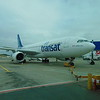 Air Transat Airbus A330 C-GTSJ at Birmingham Airport on a flight to Toronto.