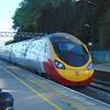A Virgin Trains Class 390 Pendolino speeding towards London through Tring.