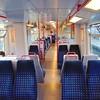 London Midland Class 319 no. 319441 interior at Leighton Buzzard on a Bletchley service.