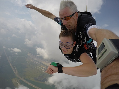Cayla Roberts tandem skydiving