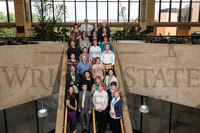 17283 New Faculty Group photo in the Library 8-22-16