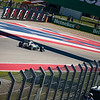 Coming into the weekend with a 33-point lead in the World Drivers' Championship, Nico Rosberg sets a blistering pace during qualifying. Saturday, October 22, 2016. United States Grand Prix. Circuit of the Americas, Turn 16. Austin, Texas.
