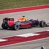 Daniel Ricciardo, donning a helmet inspired by daredevil Evel Knievel, takes the final step on the podium with a cracking drive. Sunday, October 23, 2016. United States Grand Prix. Circuit of the Americas. Austin, Texas.