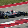 Fernando Alonso during a commanding performance that saw him drive his McLaren Honda MP4-31 to a fifth place finish. Sunday, October 23, 2016. United States Grand Prix. Circuit of the Americas. Austin, Texas.