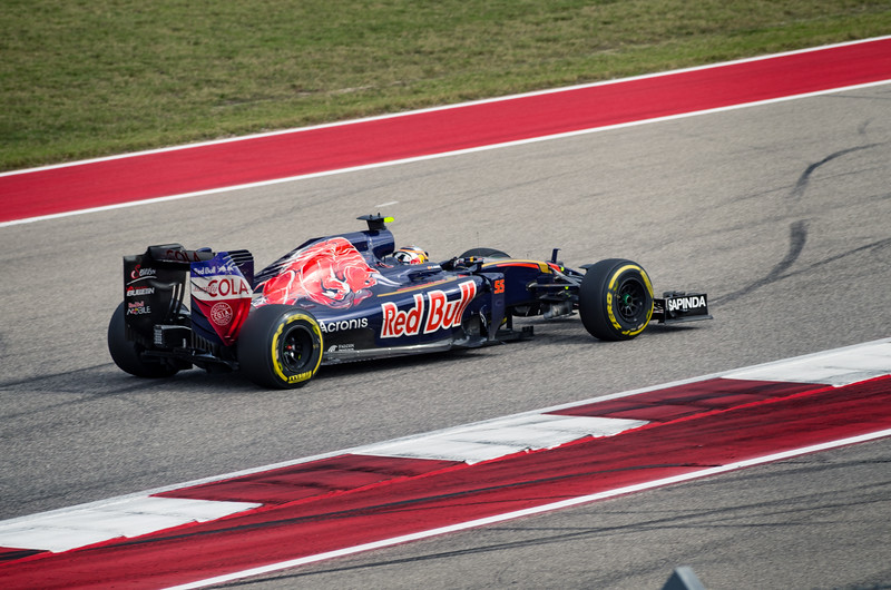 Spaniard Carlos Sainz Jr. out-performs all expectations with a 2015-spec Ferrari engine, delivering a sixth place finish for Scuderia Toro Rosso. Sunday, October 23, 2016. United States Grand Prix. Circuit of the Americas. Austin, Texas.