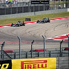 The Silver Arrows during the formation lap. Sunday, October 23, 2016. United States Grand Prix. Circuit of the Americas, Turn 12. Austin, Texas.