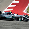 Nico Rosberg waves to the crowd after finishing second, continuing his quest to secure the 2016 World Drivers' Championship. Sunday, October 23, 2016. United States Grand Prix. Circuit of the Americas. Austin, Texas.