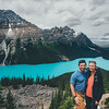 Sammi and I at Peyto Lake.