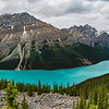 Panarama of Peyto Lake