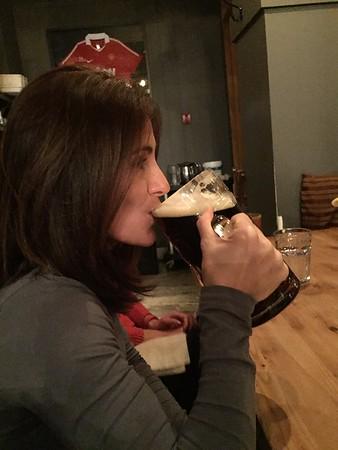 Drinking the stein!