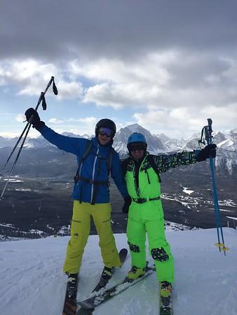 Andy and I at the top of Lake Louise ski resort
