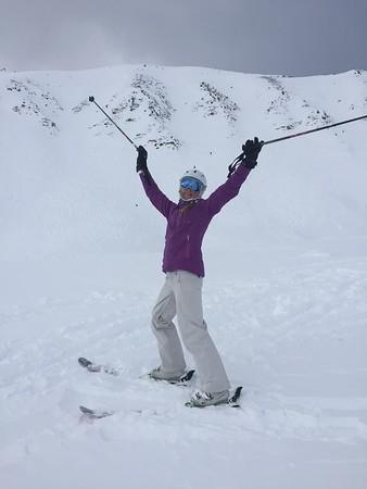 Amanda killed the steep pow!
