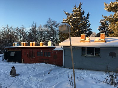 The Rooftop Apiary at 3 deg F, December 17, 2016