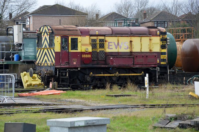 Class 08_08888 at Bescot Depot.