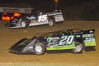 Jimmy Owens (20) and Darrell Lanigan (15)
