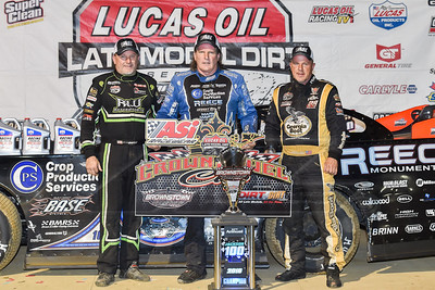 Jimmy Owens (L), Scott Bloomquist (C) and Darrell Lanigan (R)