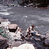 0322 Lorie(9) Lyle (7) Cheri at Bruneau River same spot summer 1969