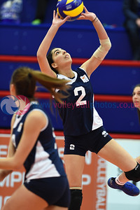 NIR 0 v 3 CYP (3-25, 8-25, 5-25), CEV 2016 European Championships - U19 Women's Finals, University of Edinburgh, Centre for Sport and Exercise, 1 April 2016.  © Lynne Marshall  http://www.volleyballphotos.co.uk/2016/CEVFIVB/SCD-U19W/NIR-CYP