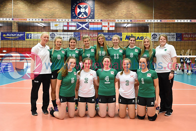 NIR v CYP, CEV 2016 European Championships - U19 Women's Finals, University of Edinburgh, Centre for Sport and Exercise, 1 April 2016.  © Lynne Marshall  http://www.volleyballphotos.co.uk/2016/CEVFIVB/SCD-U19W/NIR-CYP
