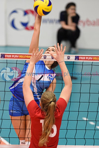 SCO  0 v 3 LUX (19-25, 17-25, 21-25), CEV 2016 European Championships - U19 Women's Finals, University of Edinburgh, Centre for Sport and Exercise, 2 April 2016.  © Lynne Marshall  http://www.volleyballphotos.co.uk/2016/CEVFIVB/SCD-U19W/SCO-LUX/